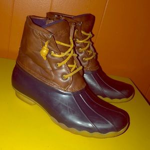 Sperry Saltwater Waterproof Duck Boots Girls